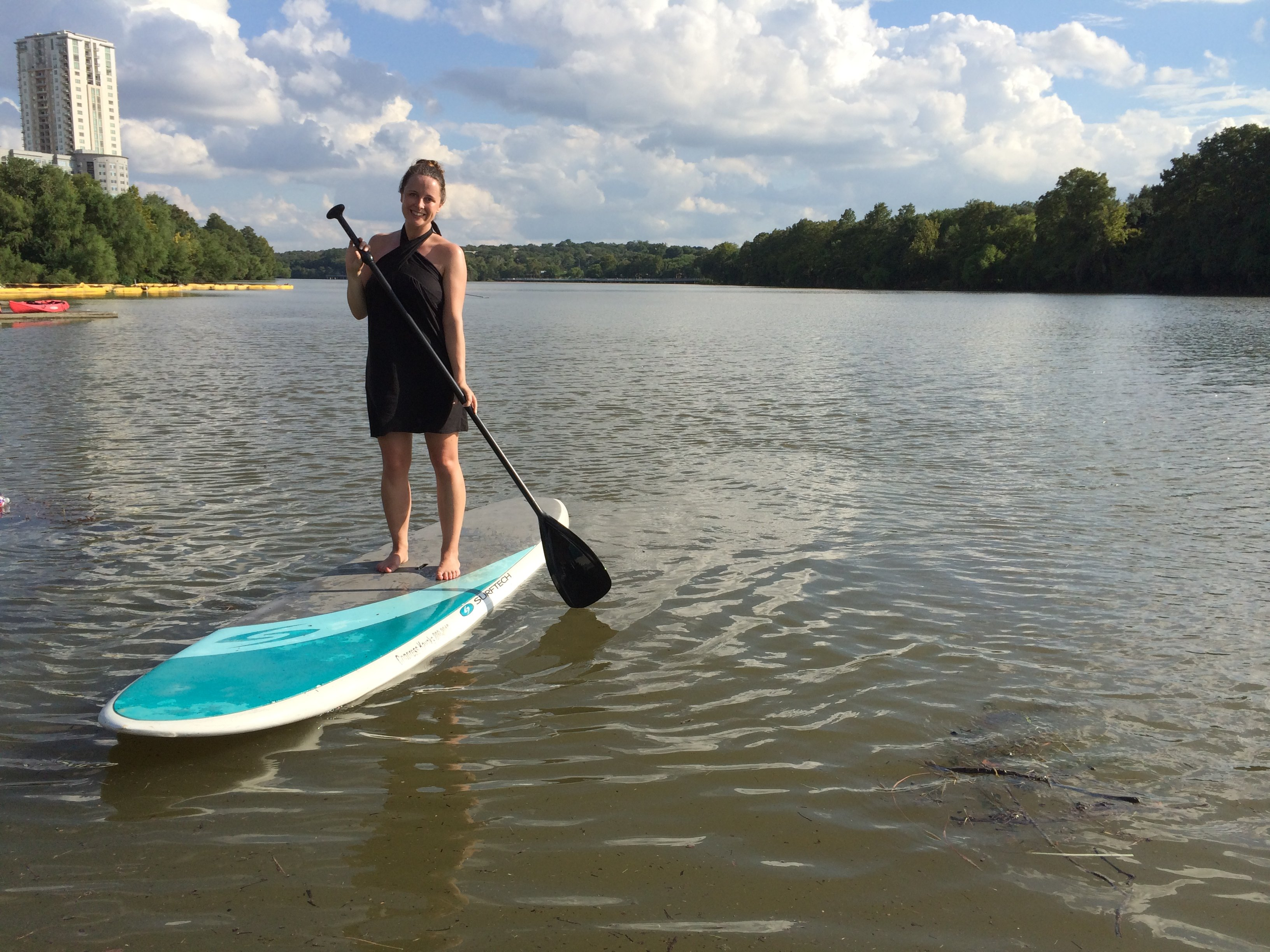 Stand-up paddle boarding in Austin, Texas
